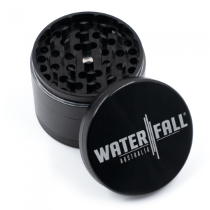 WATERFALL - CNC 4 PART 63MM W/ REMOVABLE SCREEN - BLACK